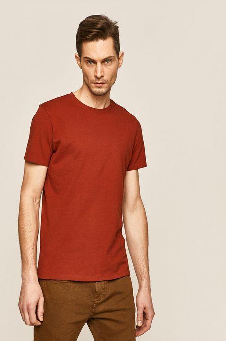 T-shirt męski brązowy