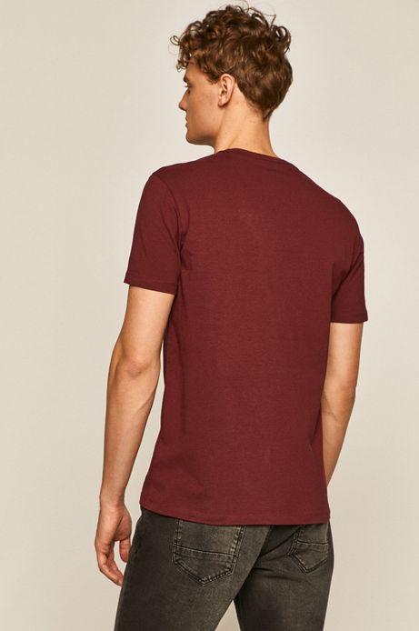 T-shirt męski bordowy