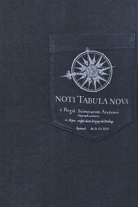 T-shirt męski z kieszonką granatowy