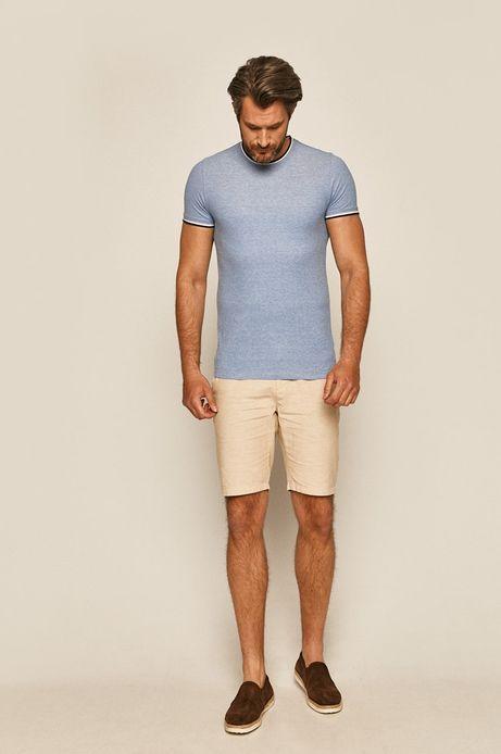 T-shirt męski gładki niebieski