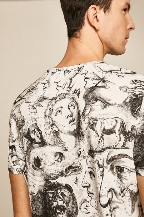 T-shirt męski Eviva L'arte biały