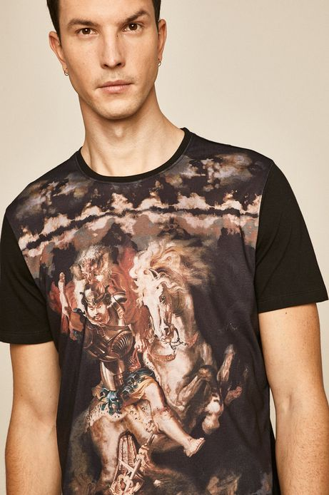 T-shirt męski Eviva L'arte czarny