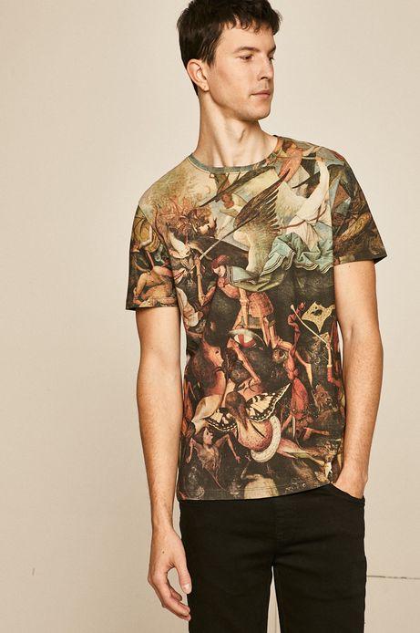 T-shirt męski Eviva L'arte wzorzysty
