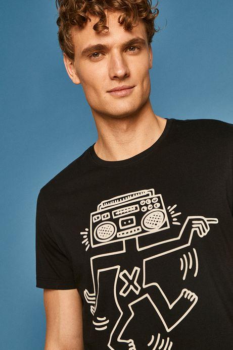 T-shirt męski by Keith Haring czarny