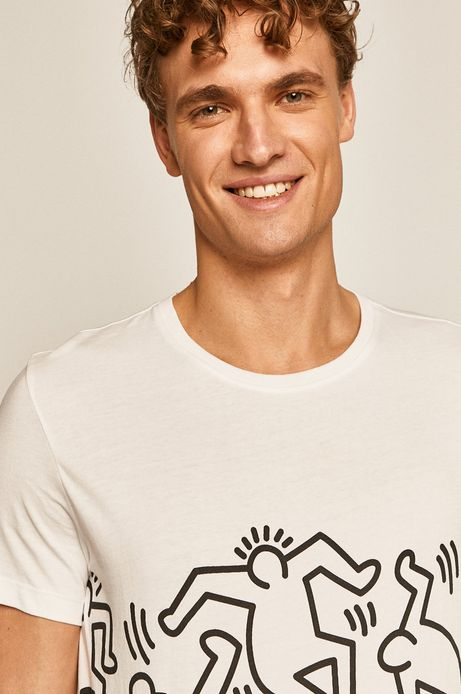 T-shirt by Keith Haring biały