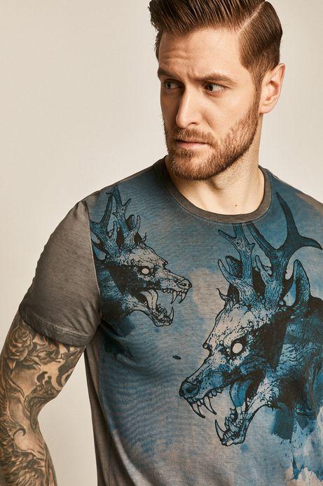 T-shirt męski Casual Utility szary