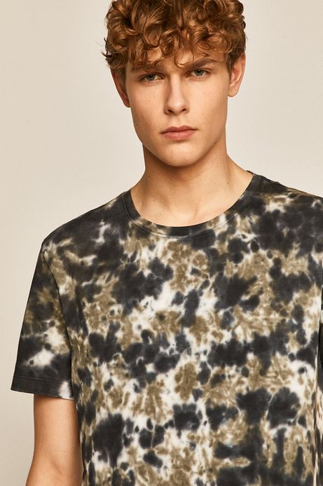 T-shirt męski wzorzysty