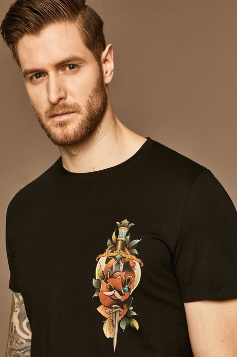 T-shirt męski by Karolina Wilczewska, Tattoo Konwent czarny