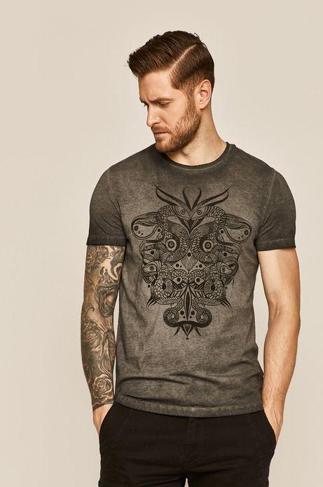 T-shirt męski by Karolina Cecot, Tattoo Konwent szary