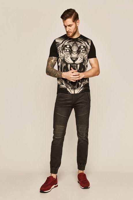 T-shirt męski by Aleksandra Kozubska, Tattoo Konwent szary