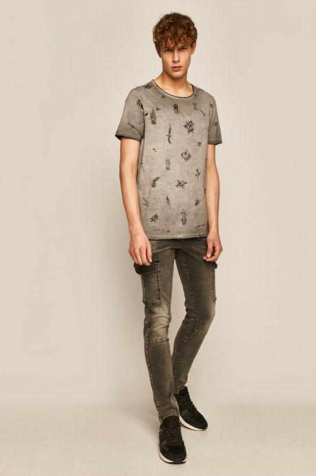 T-shirt męski by Gruby Kruk, Tattoo Konwent szary