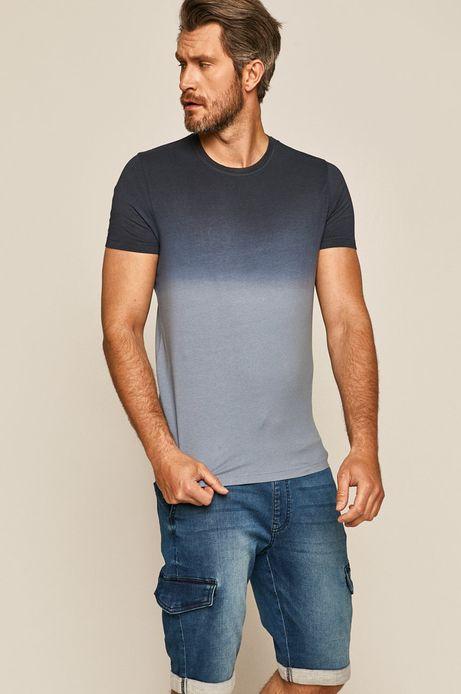 T-shirt męski niebieski