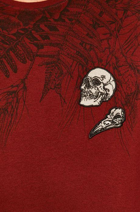 T-shirt męski by Alicja Marczyk, Grafika Polska bordowy