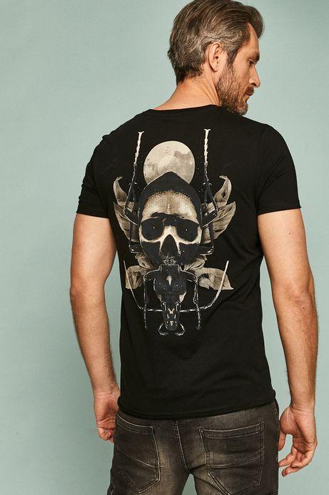 T-shirt męski by Tomasz Majewski, Grafika Polska czarny