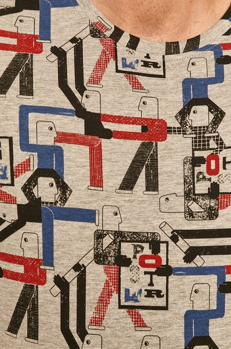 T-shirt męski by Paulina Adamowska, Grafika Polska szary