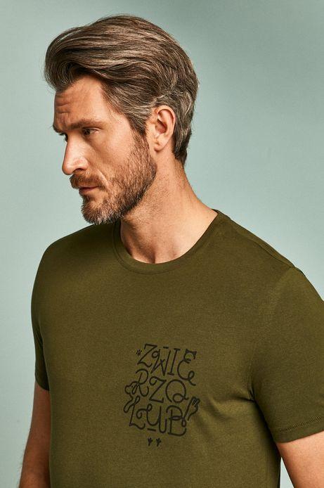 T-shirt męski by Alan Kamiński, Grafika Polska zielony