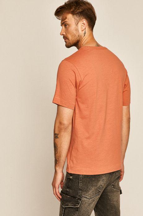 T-shirt męski gładki pomarańczowy