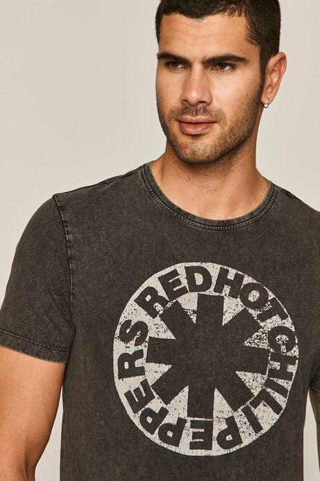 T-shirt męski z nadrukiem Red Hot Chili Peppers szary