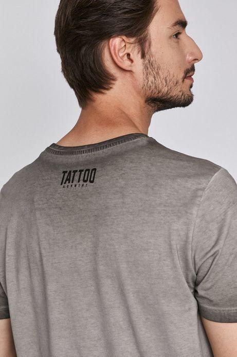 T-shirt męski by Jakub Kowalski, Tattoo Konwent szary