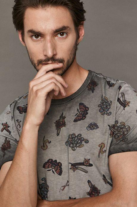 T-shirt męski by Vitalii Pavlovych, Tattoo Konwent szary