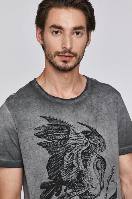 T-shirt męski by Agata Wiwczarek, Tattoo Konwent szary
