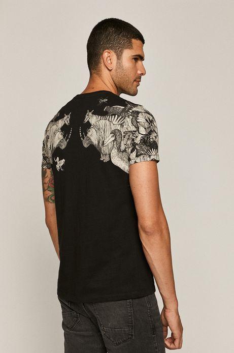 T-shirt męski by Kasia Walentynowicz, Zagrywki czarny