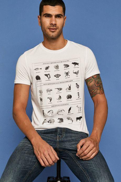 T-shirt męski by Kasia Walentynowicz, Zagrywki biały