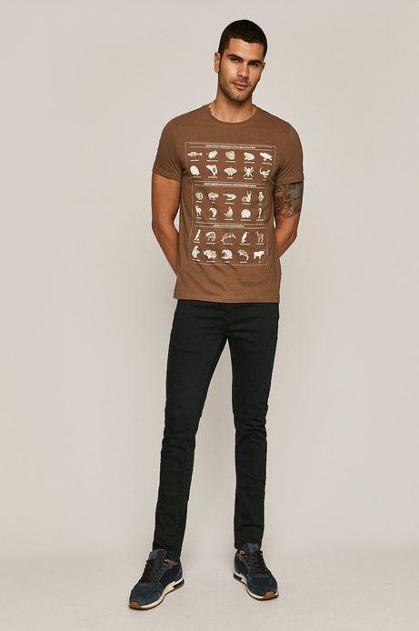 T-shirt męski by Kasia Walentynowicz, Zagrywki brązowy