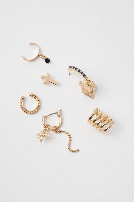 Kolczyki damskie nausznice złote