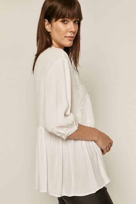 Koszula damska z haftem biała