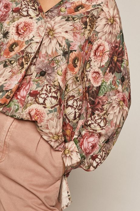 Bluzka damska w kwiaty