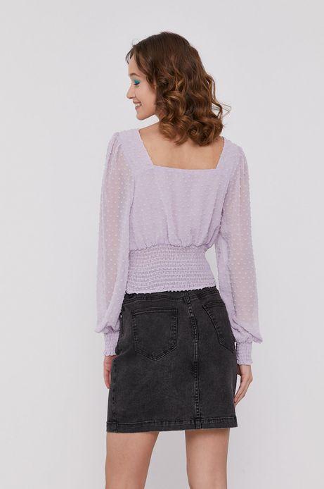 Bluzka damska z tkaniny plumeti różowa