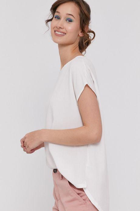 Bluzka damska z dłuższym tyłem biała