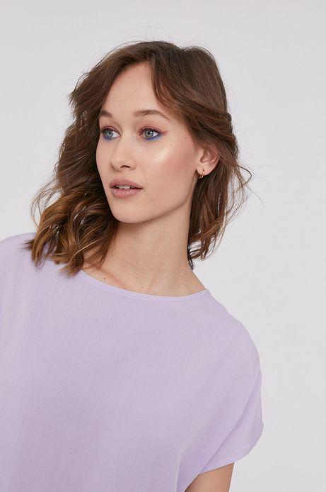 Bluzka damska z dłuższym tyłem różowa