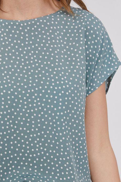Bluzka damska z dłuższym tyłem zielona