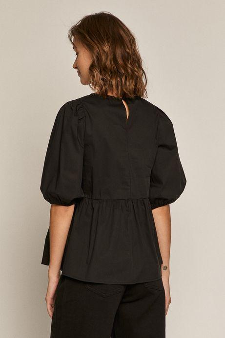 Bluzka damska z bufiastymi rękawami czarna