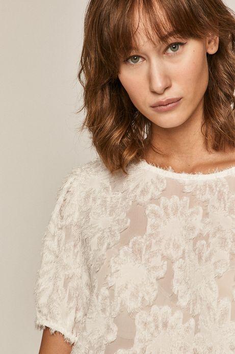 Bluzka damska z aplikacją biała