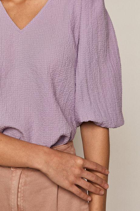 Bluzka damska z bufiastymi rękawami różowa
