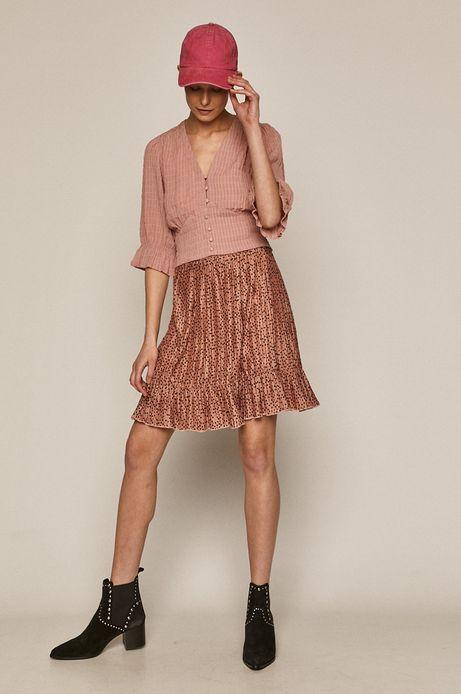 Bluzka damska z marszczeniami różowa