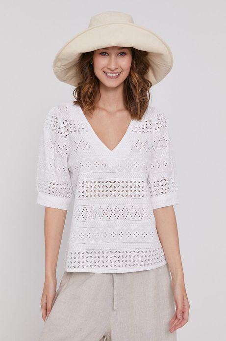 Bluzka bawełniana damska Essential biała