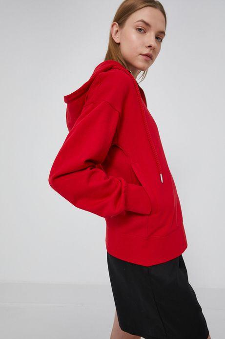 Bluza damska z kapturem czerwona