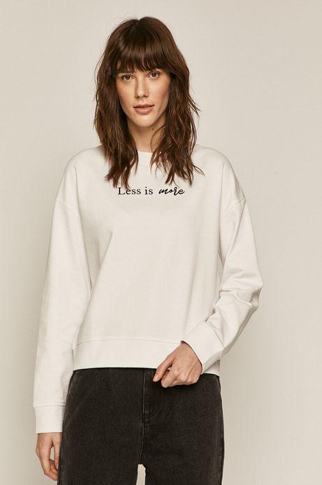 Bluza damska z napisem kremowa