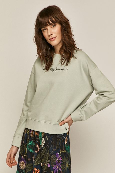 Bluza damska z napisem zielona