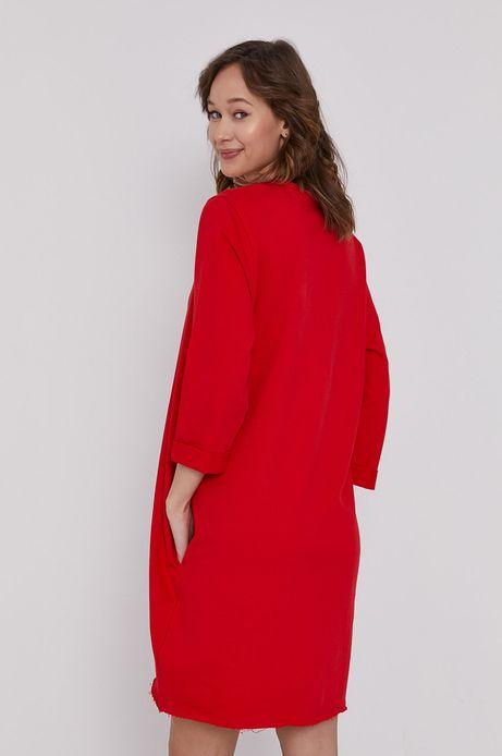 Długa bluza oversize czerwona