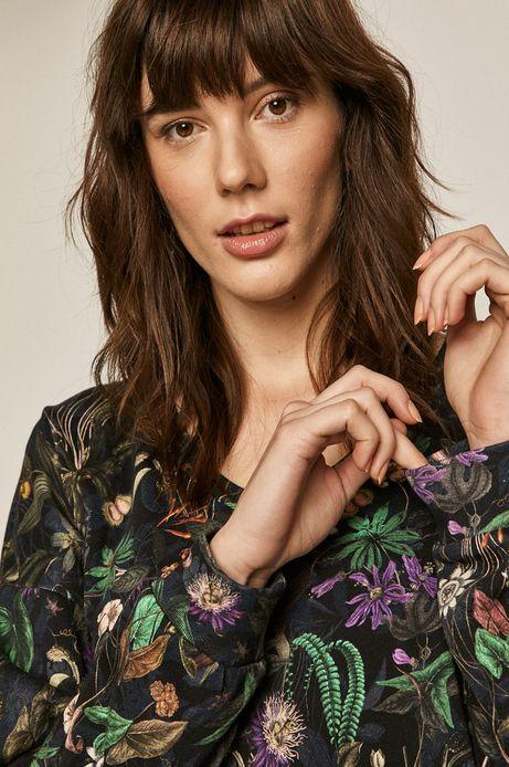 Bluza bawełniana damska w roślinny wzór