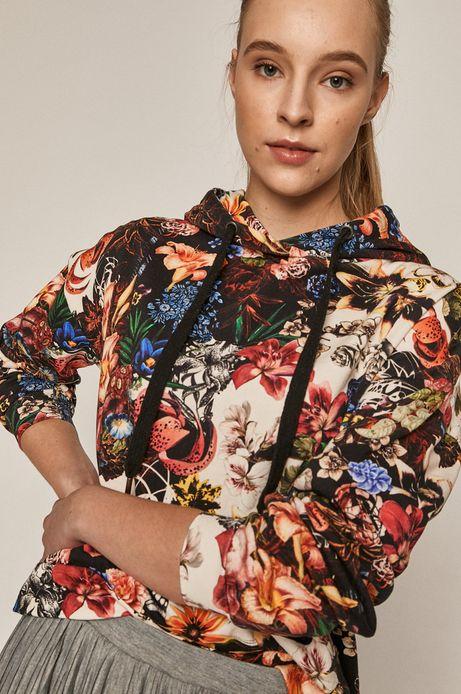 Bawełniana bluza damska w kwiaty
