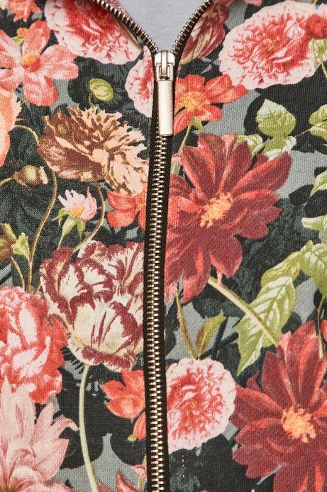 Bawełniana bluza damska z motywem kwiatowym
