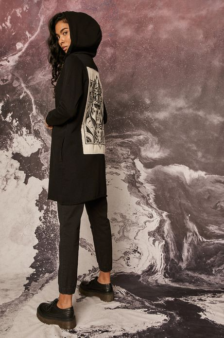 Bluza bawełniana damska by Katarzyna Piątkowska, Tattoo Art czarna