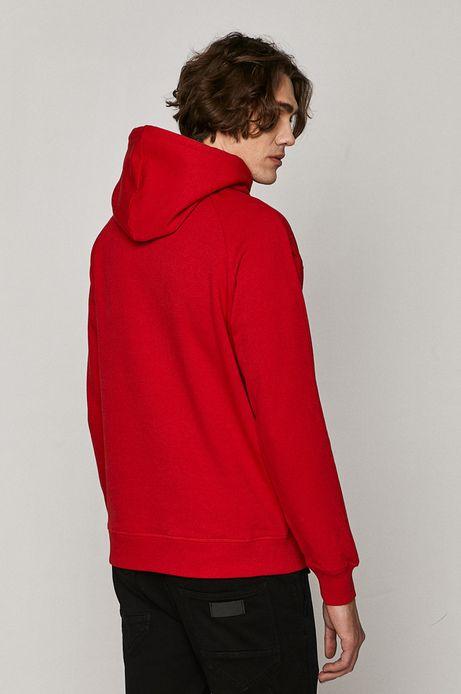 Bluza męska z kapturem czerwona