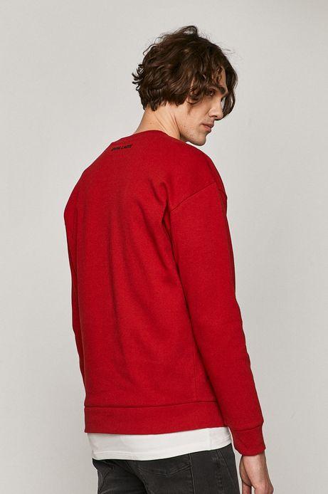 Bluza męska z nadrukiem czerwona
